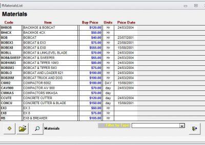 Earthmoving Estimation Software Perth